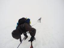 Group Hiking glacier Hvannadalshnukur summit in Iceland mountain landscape Vatnajokull park 8 Royalty Free Stock Photo