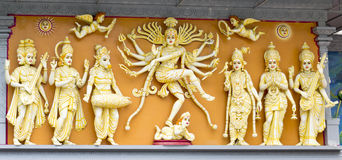 Group of Hindu Gods Royalty Free Stock Photos