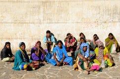 Group of Hindu pilgrims Royalty Free Stock Images