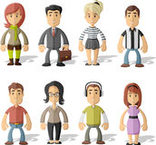 Group of hipster people Stock Photo
