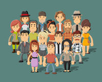 Group of hipster people Royalty Free Stock Images