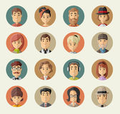 Group of hipster people Stock Images
