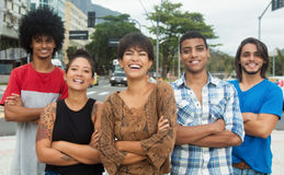 Group of hipster young adults with crossed arms Stock Image