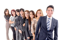 Group of hispanic business people. Smiling stock image