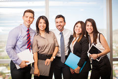 Group of Hispanic business people royalty free stock images