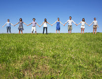 Group Holding hands Royalty Free Stock Photos