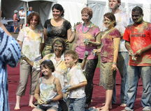 Group After Holi Celebration Stock Images