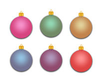 Group of Holiday Ornaments Royalty Free Stock Images