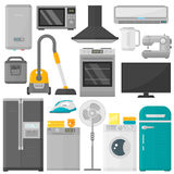 Group of home appliances vector set. Stock Image