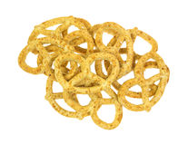 Group of honey oat flavored pretzels Royalty Free Stock Photography