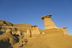 Group of hoodoos against the blue sky background Royalty Free Stock Image