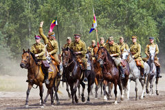 Group of horse riders Royalty Free Stock Photos