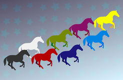 Group of horses Royalty Free Stock Images