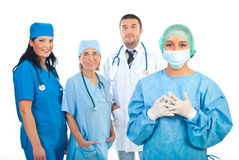 Group of hospital doctors stock photography