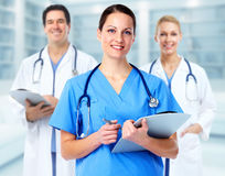 Group of hospital doctors. stock image