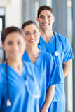 Group hospital staff. Portrait of group hospital staff in office Royalty Free Stock Image