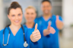 Group hospital staff Stock Images