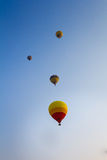Group of hot air balloon floating across the sky Royalty Free Stock Photography