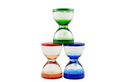 Group of hourglasses Stock Photo