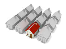 Group of houses Stock Photography