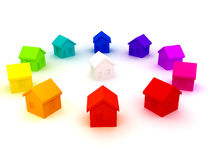 Group of houses Royalty Free Stock Photography
