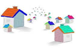 Group of houses Royalty Free Stock Image