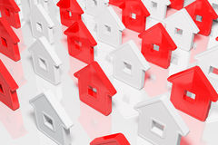 Group houses abstract form Stock Photography