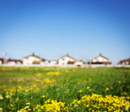 Group of houses in the countryside Stock Photography