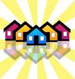 Group of houses, neighborhood vector. Design illustration Stock Image