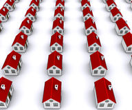 Group of houses with red roof Royalty Free Stock Images