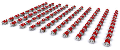 Group of houses with red roof Stock Images