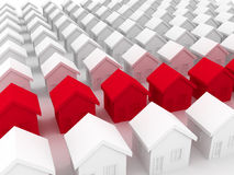 Group of houses on sale Stock Image