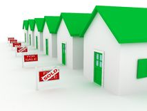 Group of houses on sale Royalty Free Stock Photography