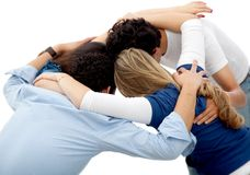Group hug Stock Image