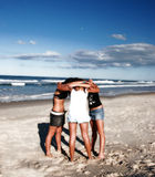 Group Hug. Teenage girls group hugging Stock Image