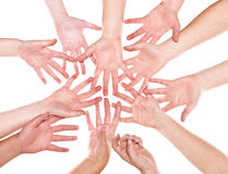 Group of Human Hands Royalty Free Stock Photos