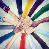 Group of Human Hands Holding Together Stock Image