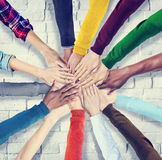 Group of Human Hands Holding Together Royalty Free Stock Photography