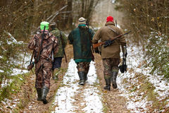Group of hunters Royalty Free Stock Images