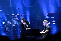 Group HURTS performs on MOST Festival 2013 July 2, 2013 in Minsk, Belarus Stock Photography