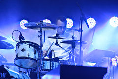 Group HURTS performs on MOST Festival 2013 July 2, 2013 in Minsk, Belarus Royalty Free Stock Images
