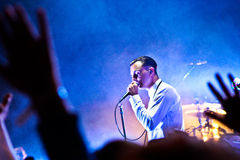 Group HURTS performs on MOST Festival 2013 July 2, 2013 in Minsk, Belarus Royalty Free Stock Photo