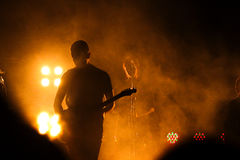 Group HURTS performs on MOST Festival 2013 July 2, 2013 in Minsk, Belarus Royalty Free Stock Photos