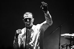 Group HURTS performs on MOST Festival 2013 July 2, 2013 in Minsk, Belarus Royalty Free Stock Photography