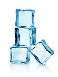 Group ice cubes Royalty Free Stock Photos
