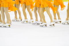A group of ice skating woman. A group of ice skating Stock Photography