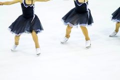 A group of ice skating woman. A group of ice skating Royalty Free Stock Images