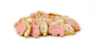 Group Iced Animal Cookies Royalty Free Stock Photos