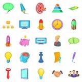Group icons set, cartoon style Royalty Free Stock Photo