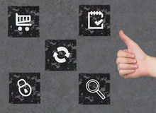 Group of icons Royalty Free Stock Photography